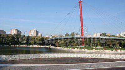 Drumul Taberei park - lake and bridge.