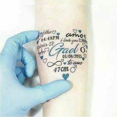 10 fabulosos tatuajes para llevar a tus hijos contigo todo el tiempo. La 8 es ¡genial!