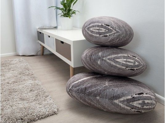 Mocka Stone Cushions - Granite with Whitehaven - Low