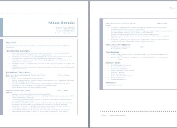Las 25 mejores ideas sobre Police Officer Resume en Pinterest - law enforcement resume templates