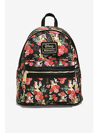 091b68d2731a Loungefly Disney Beauty And The Beast Belle Floral Mini Backpack ...
