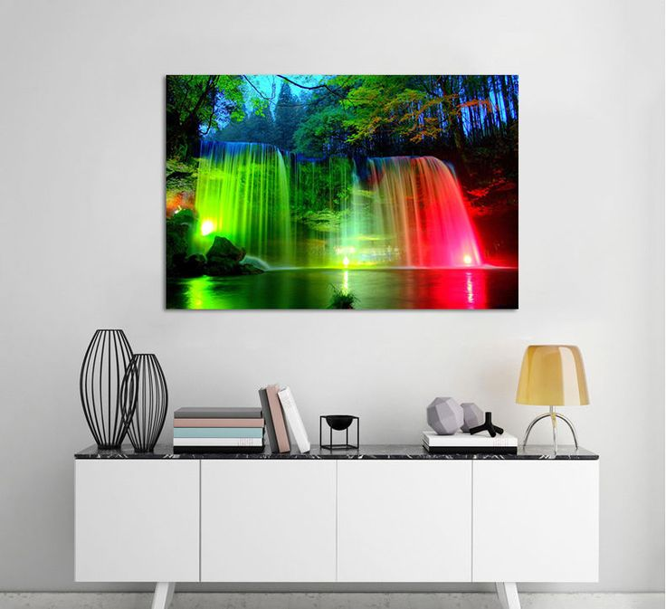 Vintage D Colorful Waterfall Wall Stickers Vinyl Wall Murals Print Decal Art Ajstore Us