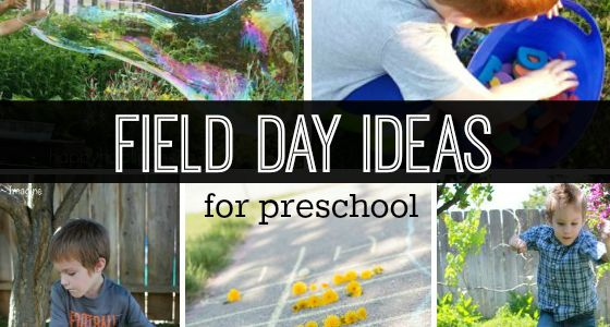 field day games for preschoolers