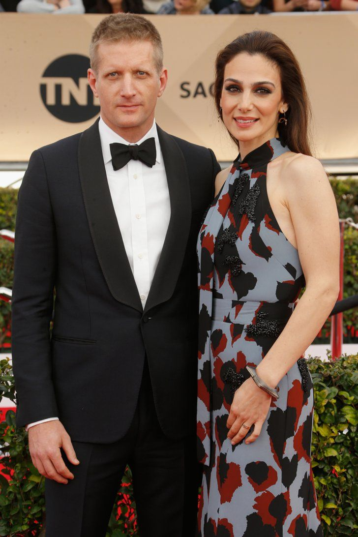 Pin for Later: Twice as Nice — See All the Stars Who Brought Gorgeous SAG Awards Dates Paul Sparks and Annie Parisse
