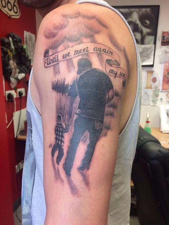 Father Son Tattoos Lets Get Inked Tattoos For Guys Tattoos