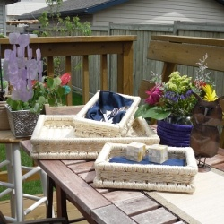 Serving trays perfect for backyard entertaining! www.fairplanet.ca