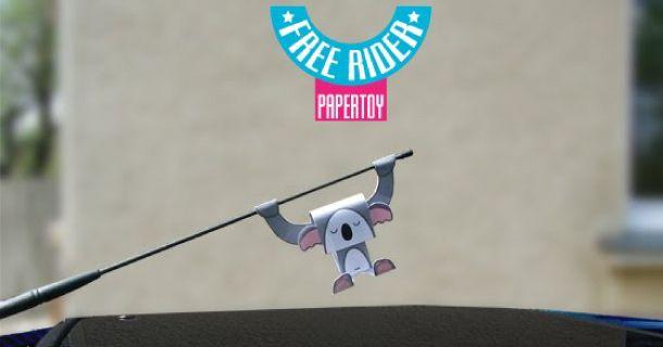 Koala para antena de automovil