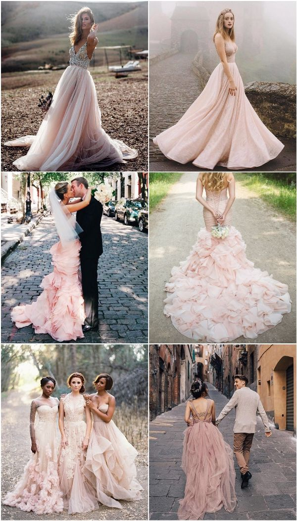 Wedding Trends 15 Romantic Blush Wedding Color Ideas Blush Pink Wedding Dress Pink Wedding Dresses Non White Wedding Dresses