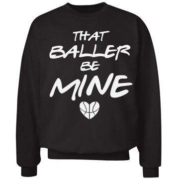 Baller B-Ball Girlfriend | Personalize a basketball girlfriend sweater to show your basketball love and march madness.