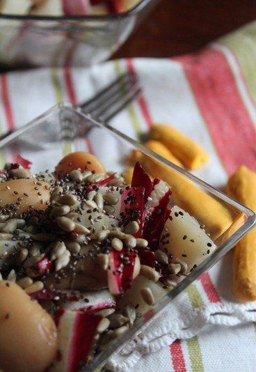 Insalatina di radicchio, fagioli corona e topinambour - Ricette con i semi di chia - alfemminile