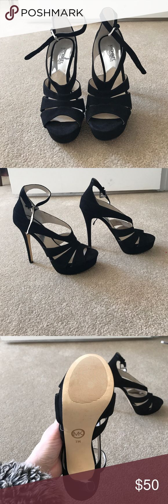 Brand New Michael Kors Heels! Cleaning out my closet! Anything I haven't worn in a year is out! Take advantage! Brand New Michael Kors Heels! MICHAEL Michael Kors Shoes Heels