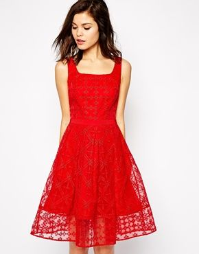 Karen Millen Embroidered Party Dress