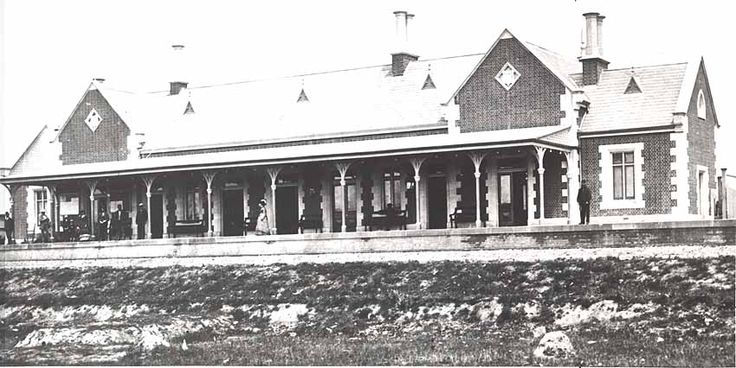 Bathurst Railway Station- original station building viewed from tracks  Image by: State Records  Image copyright owner: SR NSW 17420 17420_a014_a014000636