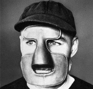 clint-benedict-montreal-maroons-hockey-goalie-mask.jpg (303×289)