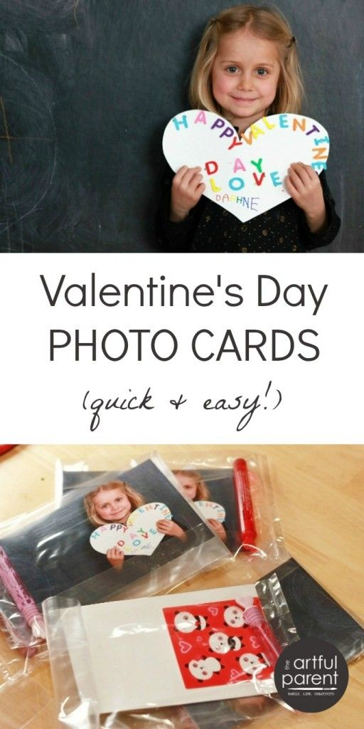 Quick and Easy Happy Valentines Day Photo Card
