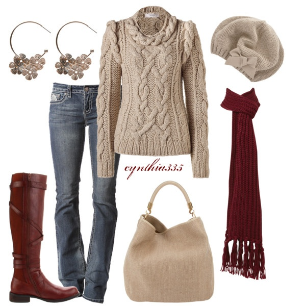 Crisp Morning, created by cynthia335 on Polyvore: Fall Clothing, Hats, Woman Fashion, Style, Cozy Winter Outfits, Fall Outfits, Fall Fashion, Boots, Crisp Mornings