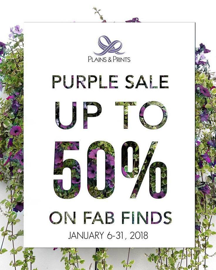 Purple Sale @ Plains & Prints. CLICK HERE for more details: https://dealspinoy.com/purple-sale-plains-prints/ #DealsPinoy