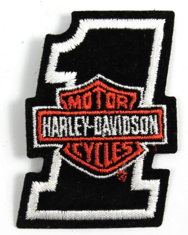 nos harley davidson black number 1 bar shield vintage 2. Black Bedroom Furniture Sets. Home Design Ideas