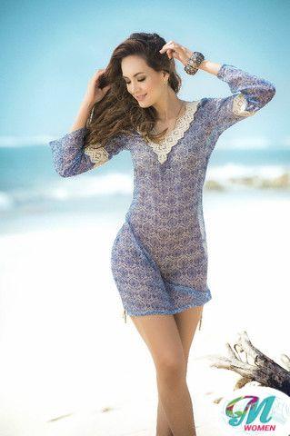 Cover-Up Dress Color Blue $ 52.00