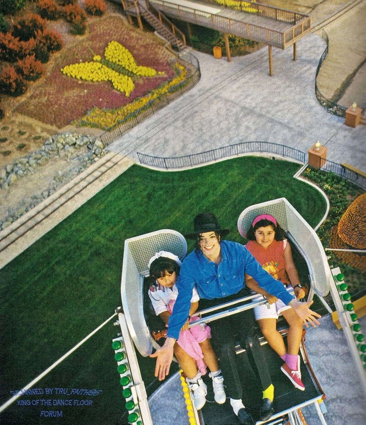 Michael at Neverland. Michael spent time with hundreds of girls and boys in his amusement park and zoo and movie theater and candy bar. He wanted disadvantaged and sick kids to have the greatest time there !