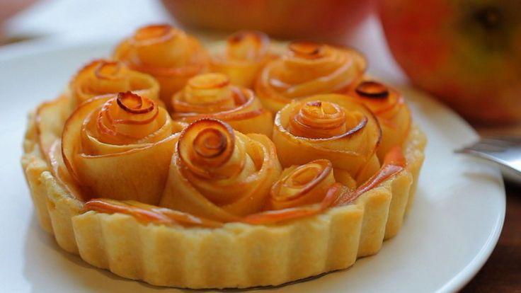 como hacer tarta de manzana con hojaldre