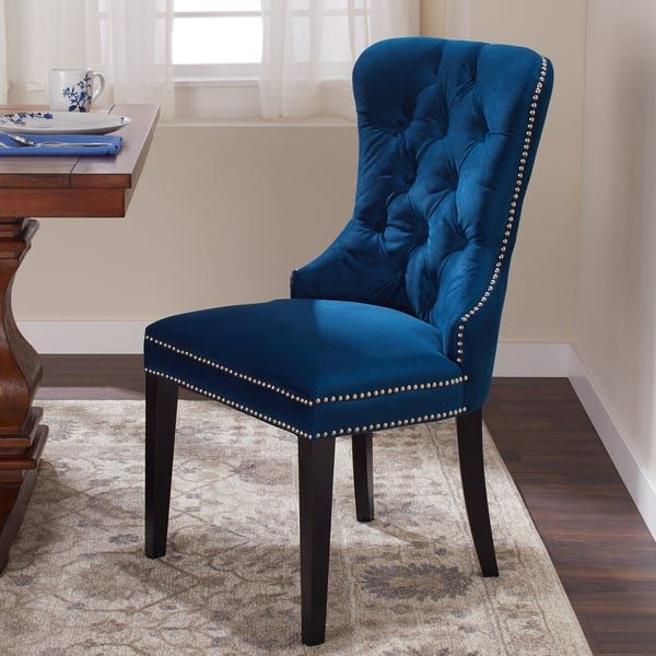 Abbyson Versailles Blue Tufted Dining Chair In 2020 With Images