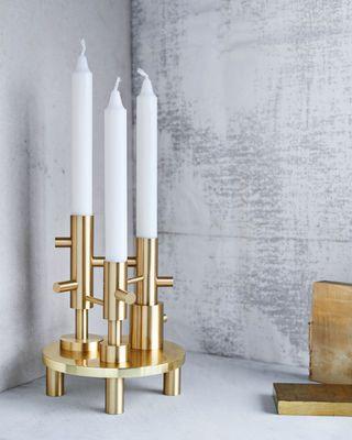 Chandelier / Triple - Laiton - H 20 cm Laiton - Fritz Hansen