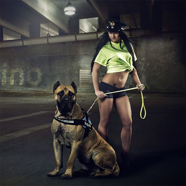 Recommended by the K-9 Search Dog Center / Alexandra Grunow  This leash is glowing (phosphoresce) in the dark. It's a strong polyester strap with optimal adherence, covered with silicon-like material, tested and proved on load tests.