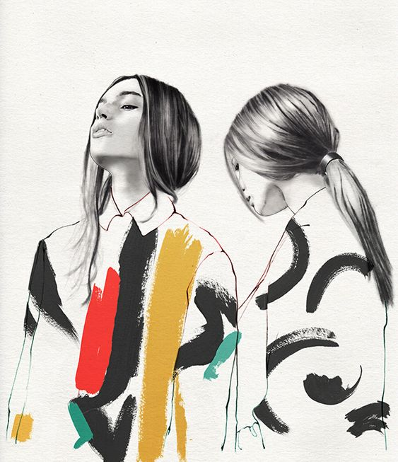 lucie birant #illustration #fashion editorial