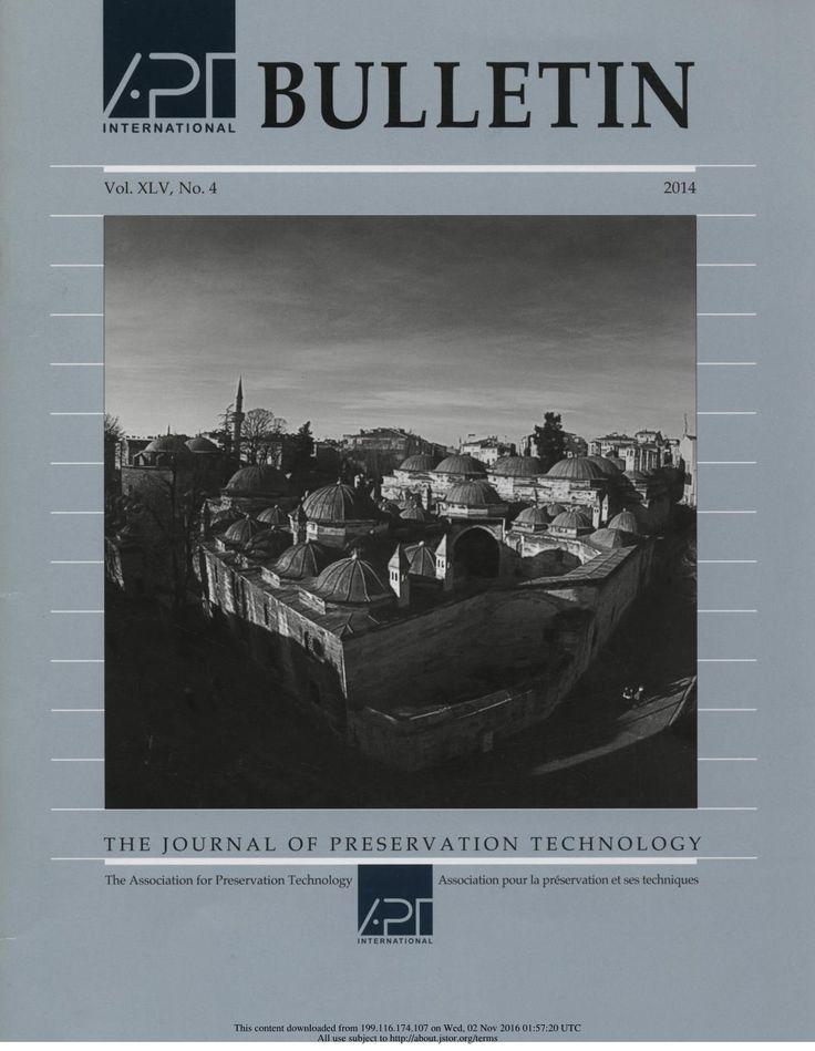 APT Bulletin Vol. 45, No. 4, 2014