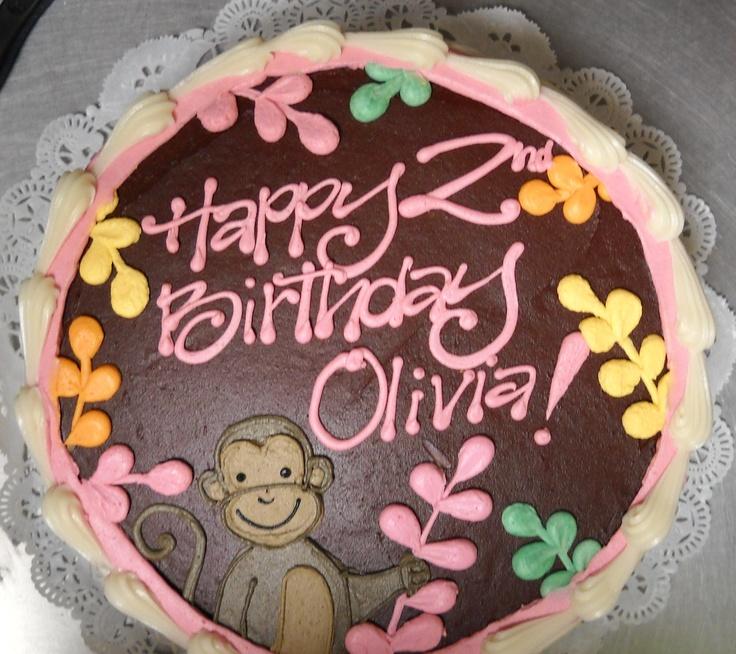 Sweet little monkey birthday cake #icingonthecakelosgatos