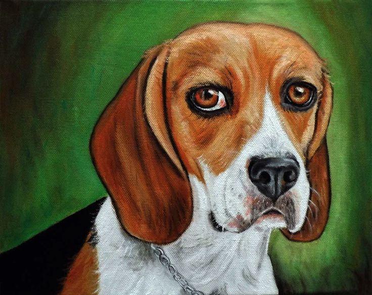 Dipinto quadro cane beagle olio su tela , by Ornella Di Scala, 100,00 € su misshobby.com