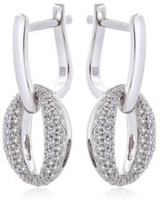 18ct White Gold Signature Diamond 'O' Earrings set with 0.50ct Diamonds from Hardy Brothers Jewellers.