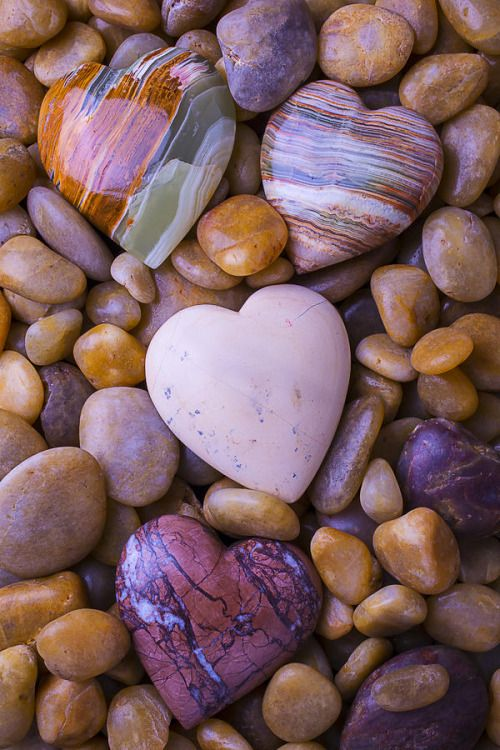 Heart-shaped Polished Stones
