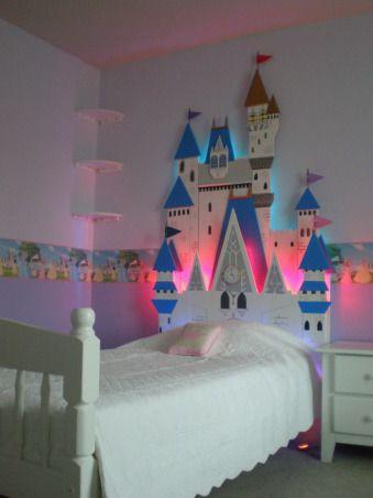 Aww... so beautiful. Castle headboard; Disney
