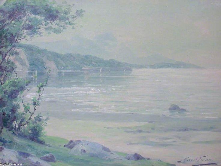 Scène de la Rive, Aberdovey de Robert Fowler (1853-1926, United Kingdom)