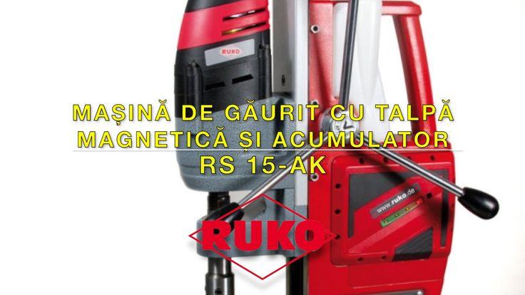 Masina de gaurit cu talpa magnetica si acumulator RUKO RS 15 AK