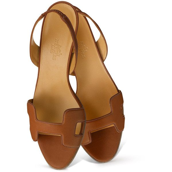 Shoes Hermès Ottomane ($680) ❤ liked on Polyvore