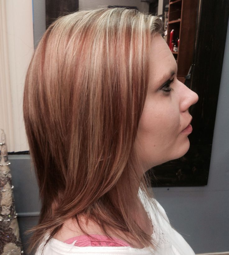 Copper Highlights Blonde Highlight Lowlight Long Hair