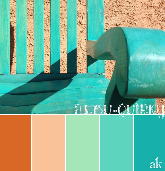 a New-Mexico-inspired color palette // orange, peach, teal