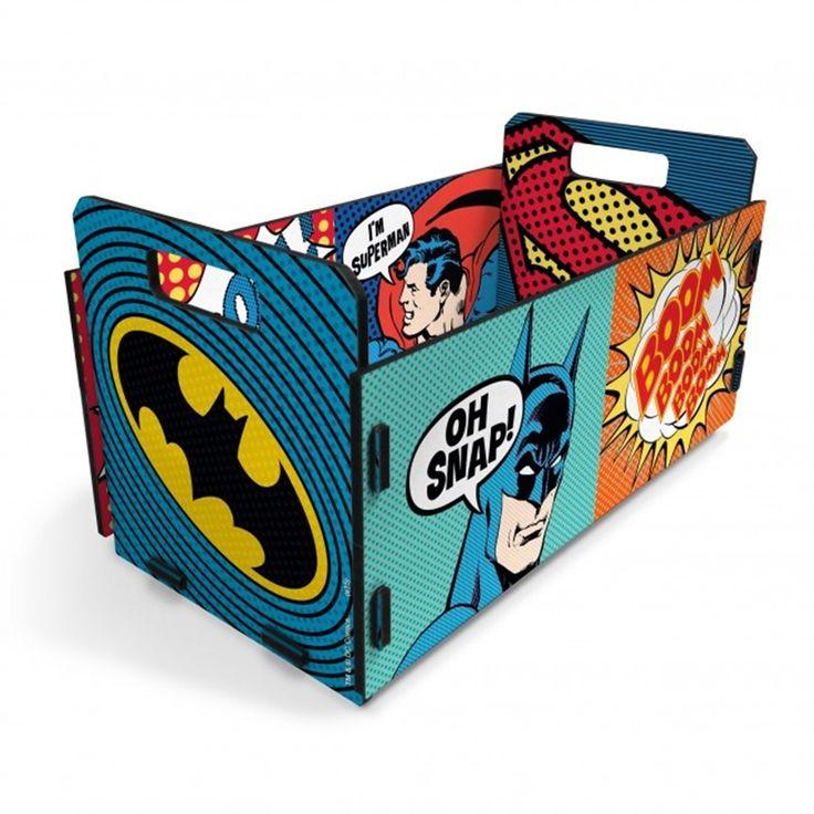 Caixote DC Comics Batmam 36cm   CAIXAS, CESTOS E BAÚS   Decorando