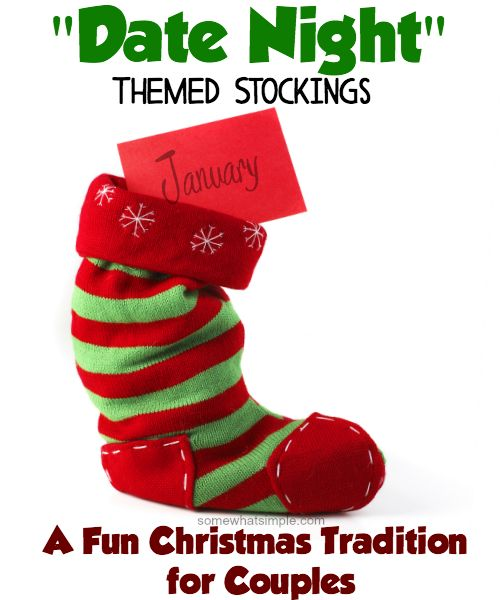 A FAVORITE Christmas tradition, and An easy way to strengthen you marriage all through all year long, and can be as thrifty or as extravagant as you want to make it!