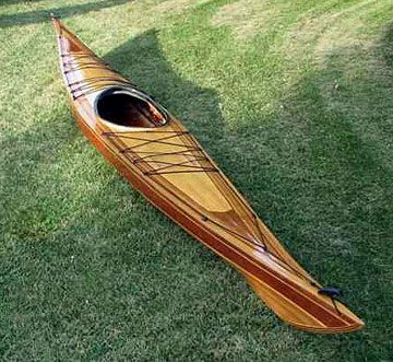 Disko Bay West Greenland style wood strip sea kayak ...