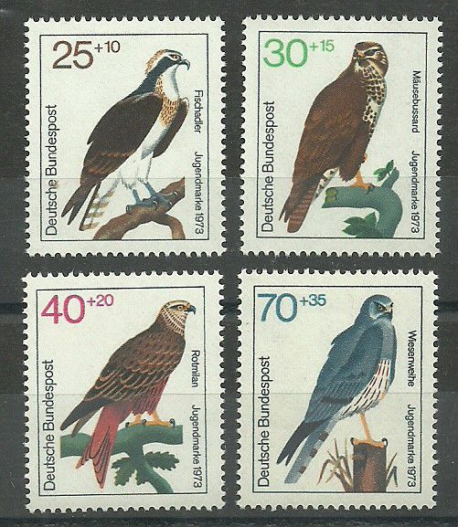 Germany-West Birds of Prey 1973