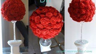como hacer centro de mesas con flores - YouTube