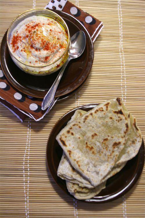 Cena Libanese con crema di melanzane e pane azzimo - #chezbetulì