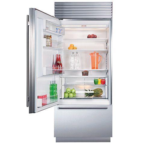 Buy Sub-Zero ICBBI30U/S/TH/LH Fridge Freezer, Stainless Steel Online at johnlewis.com