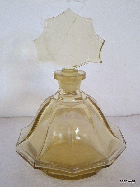 http://de.dawanda.com/product/77932983-Vintage-Parfum-Flakon-gelb-Glas-alt