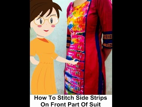 How To Sew Side Strips On Front Part Of Suit - Tailoring With Usha - YouTube