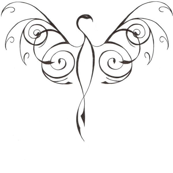 tattoo designs phoenix 05 found on Polyvore featuring polyvore, women's fashion, accessories and body art